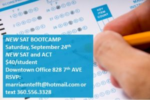 Bootcamp New SAT ACT September 2016